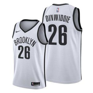 Brooklyn Nets Spencer Dinwiddie White Jersey